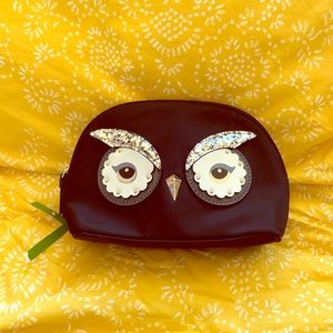 Owl Kate Spade Makeup Cosmetic Bag